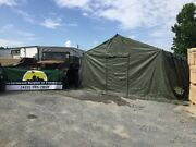 Military Base X 305 Tent 18' X 25' W/stakes Od Green Tactical Shelter