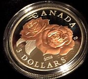 Silver Coin With Selective Rose Gold Plating Queen Elizabeth Rose 2016