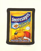 Wacky Packages 49 Painted Art - Snoresages - 2010 Signed Art By Brent Engstrom
