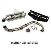 Sparks Racing X-6 Stainless Steel Exhaust System 10-17 Polaris Rzr 170 Blue