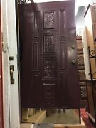 Front Door Spanish Revival Spanish Mediterranean Style Carved Wood Detail 79x35