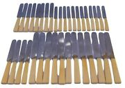 French Antique Art Deco Set Of 36 Horn Dinner, Cheese And 12 Dessert Knives