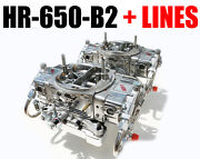 Quick Fuel Hr-650-b2 Blower Supercharger Carbs Gas With Clear Fuel Lines