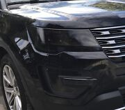 2016-2018 Ford Explorer Headlight And Foglight Precut Tint Cover Smoked Overlays