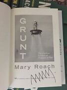 Grunt By Mary Roach, Bulk Lot Signed Autographed First Edition Hardcover Books