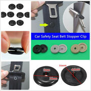 100 Pcs Universal Auto Car Seat Belt Stopper Buckle Button Fastener Safety Clips