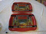 Vintage Bacon Stickney And Co Spice Best Ginger Rare Serving Trays Albany New York