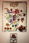 Floral-art-prints Bracha Guy Etching With Remarque / One Of One-hand Colored