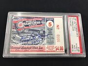 1967 Ws World Series Ticket Boston Red Sox Jim Lonborg Complete Game Win Psa 10