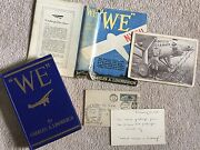 Air Mail Letter Carried By Charles Lindbergh We Book 1st Ed Promo Photo Rare