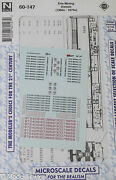 Microscale Decal 60-147 Erie Mining Diesels 1960s - 70s Decal Sheet N Scale