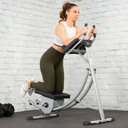 Abs Abdominal Exercise Machine Ab Crunch Roller Fitness Body Muscle Workout New