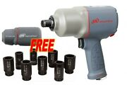Ingersoll Rand 2145qimax Quiet 3/4 Impact Wrench W/ Free Boot Socket Set And Bag