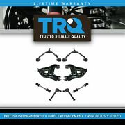 Trq 8 Pc Steering And Suspension Kit Control Arms Tie Rods Sway Bar End Links New