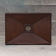 48 W Andrew Console Table Mahogany Wood Hand Crafted Unusual Design Brass Piece
