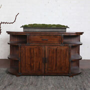 60 W Natalie Sideboard Hand Stained Medium Brown Distressed Metal Accents Nice
