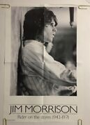 Jim Morrison The Doors Original Vintage Poster Riders On The Storm Pin-up 1970's