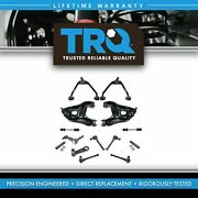 Trq 14 Pc Steering And Suspension Kit Control Arms Ball Joints Tie Rods 2wd
