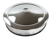 Ford Chevy Mopar Air Cleaner Set Chrome 14 X 3 Air Cleaner Wit Recessed Base New