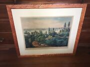 Original Currier And Ives Print New York Bay From Bay Ridge Long Island