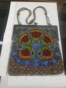 Glass Bead Purse Marked Germany