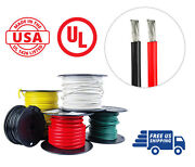 4 Awg Marine Wire Spool Tinned Copper Boat Cable 25 Ft Red, 25 Ft Black Usa Made