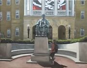 Abeand039s Lucky Foot 16x20 Original Oil Painting Uw Madison Abe Lincoln Bascom Hill
