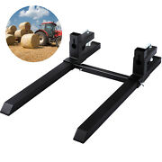 Vevor 43andlsquoandrsquo Clamp On Pallet Forks W/ Bar 1500lb Loader Tractor Heavy Duty