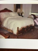 Stunning Beautiful Full Size Bed Frame Louis Xv Style - Gold Leaf