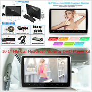 10.1and039and039 Hd Tft Lcd Screen Car Headrest Monitor Dvd Game Player Kit Usb/sd/hdmi/fm