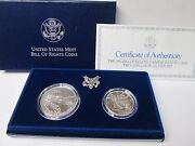 1993 Bill Of Rights Uncirculated 2 Coin Commemorative Set