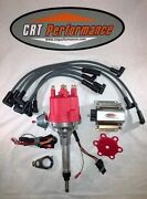 Small Cap Chevy Inline 6 Cylinder 194-216-235 Red Hei Distributor, Coil And Wires