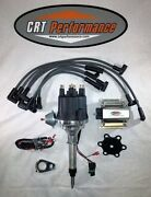 Small Cap Chevy Inline 6 Cylinder 235 Black Hei Distributor, 60k Coil + Wires