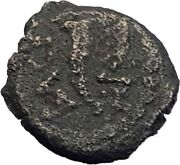 Herod The Great Graven Image Eagle Of Jerusalem Temple Ancient Coin Rare I64156