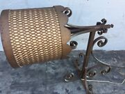 1950's Iron Hanging Lamp With Wall Bracket