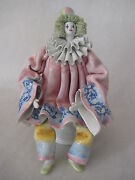 Vintage Italy Art Pottery Hand Crafted Painted Ceramic Pierrot Figurine, Marked