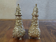Beautiful Vintage Stieff Sterling Silver Salt And Pepper Shakers