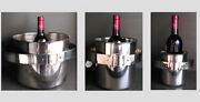 3 Very Rare Champagne And Ice Bucketand039s Attr To Maria Pergay 1970and039s Simar Inox