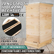 Complete 40 Frame Bee Hive 4 Box With Frames Beehive Frame For Beekeeping Kit