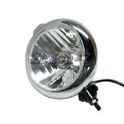 7 Inch Black Chrome Headlight For Chopper Customs British Cafe Racer Motorcycle