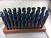 32 Pc Sandd Drill Bit Set 33/64 To1machinist Silver And Deming Sandd Hss ,118 Point