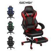 Racing Gaming Chair Video Ergonomic Massage Pu Leather Office Recliner Footrest