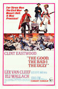 The Good The Bad And Ugly Vintage Movie Poster Clint Eastwood