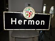 Vintage City Of Los Angeles Hermon District Sign 48 1/2 Long 18 Tall