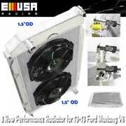 3 Row Aluminum Performance Radiator+12 Fans For 71-73 Ford Mustang V8 Mt Only