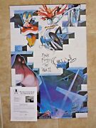 Roger Waters Pink Floyd Signed Autograph 24x36 Poster Bas Certified The Wall 6