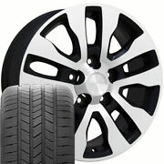 20 Wheel Tire Set Fit Toyota Tundra Style Black Machand039d Rims Gy Tires 69533
