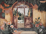 Arched Door Entrance 69x50 Wall Mural Marble Mosaic Ls113