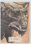 2014 The Hobbit An Unexpected Journey Sketch Cards 1/1 Clay Sayre Warg 0c3