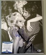 Alice Cooper Signed 11x14 Black And White Photo With Beckett Authentication Coa
